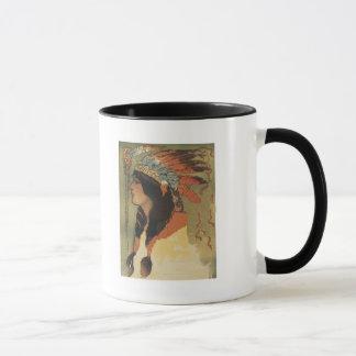 Chica del indio del vintage taza
