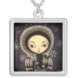 Chica del Inuit - hada del copo de nieve Joyeria Personalizada