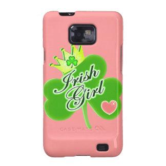 Chica del irlandés del día de St Patrick Samsung Galaxy SII Funda