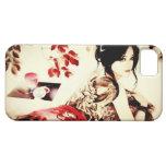 Chica del japonés del vintage iPhone 5 Case-Mate cárcasas