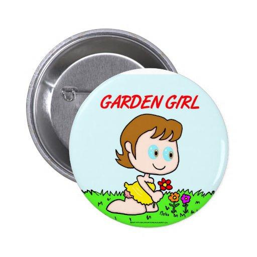 Chica del jardín pin