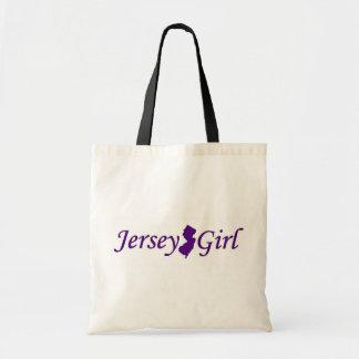Chica del jersey bolsa