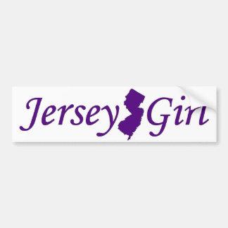 Chica del jersey etiqueta de parachoque
