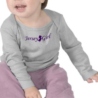 Chica del jersey camiseta