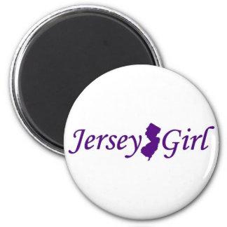 Chica del jersey imán redondo 5 cm