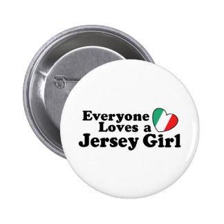 Chica del jersey pin redondo 5 cm