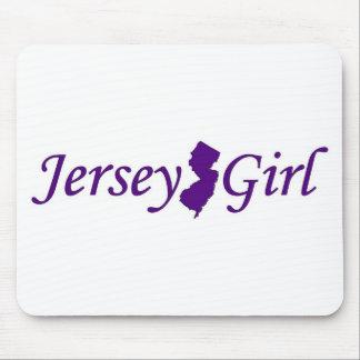 Chica del jersey tapetes de ratón