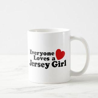 Chica del jersey taza