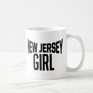 Chica del jersey taza de café