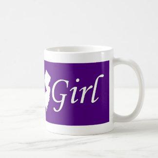 Chica del jersey tazas de café