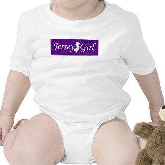 Chica del jersey traje de bebé