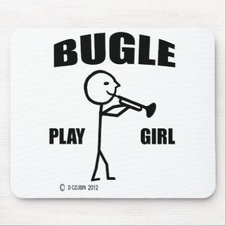 Chica del juego del bugle alfombrillas de ratones