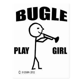 Chica del juego del bugle tarjetas postales
