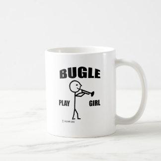 Chica del juego del bugle taza clásica