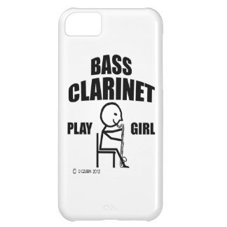 Chica del juego del clarinete bajo