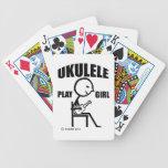 Chica del juego del Ukulele Baraja Cartas De Poker