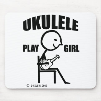 Chica del juego del Ukulele Mouse Pads