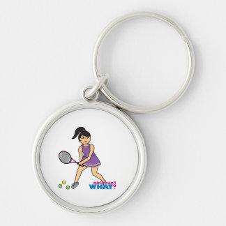 Chica del jugador de tenis - medio llaveros