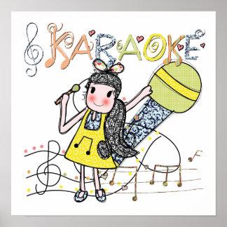 Chica del Karaoke Póster