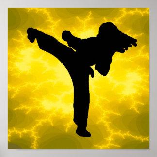 Chica del karate impresiones