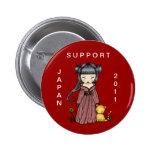 Chica del kimono del botón de Japón de la ayuda Pin