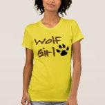 Chica del lobo camisetas
