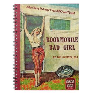 chica del malo del bookmobile spiral notebook