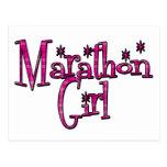 Chica del maratón tarjetas postales