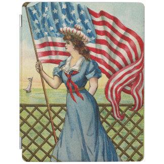 chica del marinero - arte patriótico náutico del cubierta de iPad