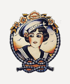 chica del marinero de los años 20 playera