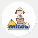 Chica del marinero pegatinas