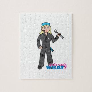 Chica del mecánico - luz/Blonde Puzzles Con Fotos