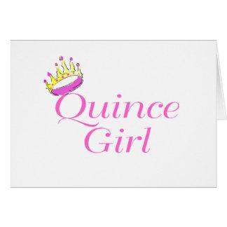 Chica del membrillo tarjeta de felicitación