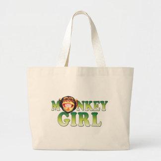 Chica del mono bolsa de mano
