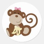 Chica del mono de Melanie Etiqueta