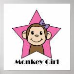 Chica del mono impresiones