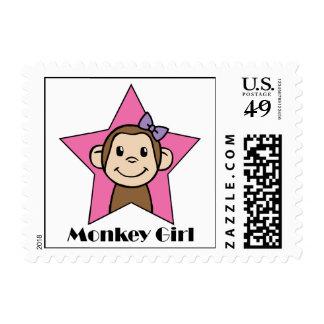 Chica del mono franqueo