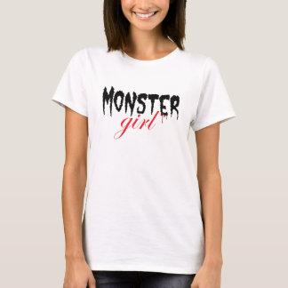 Chica del monstruo [versión roja] playera
