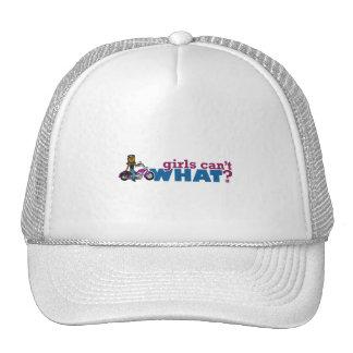 Chica del motorista gorras de camionero