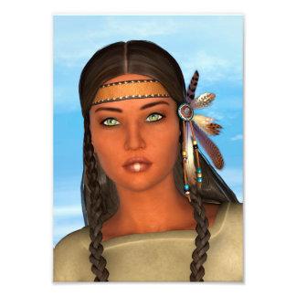 Chica del nativo americano fotografías
