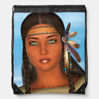 Chica del nativo americano mochilas