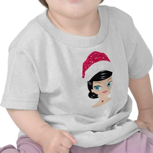 Chica del navidad camisetas