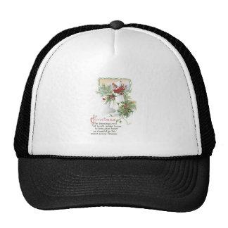 Chica del navidad del vintage gorras de camionero