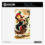Chica del navidad del vintage iPhone 4S skin