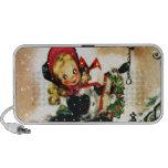 Chica del navidad del vintage mini altavoz