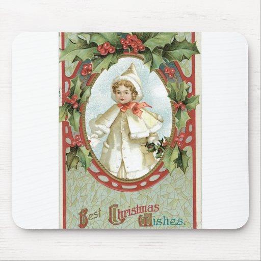 Chica del navidad mousepads