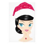 Chica del navidad papelería de diseño