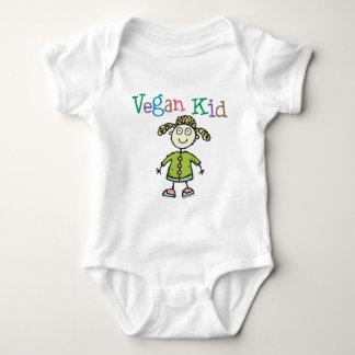 Chica del niño del vegano body para bebé