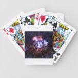 Chica del orbe del espacio baraja cartas de poker