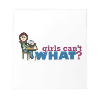Chica del ordenador - luz blocs de notas